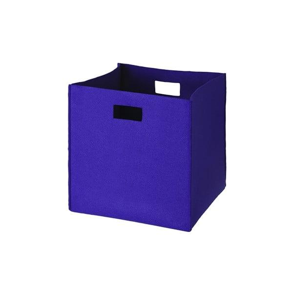 Plstěná krabice 36x35 cm, středně modrá
