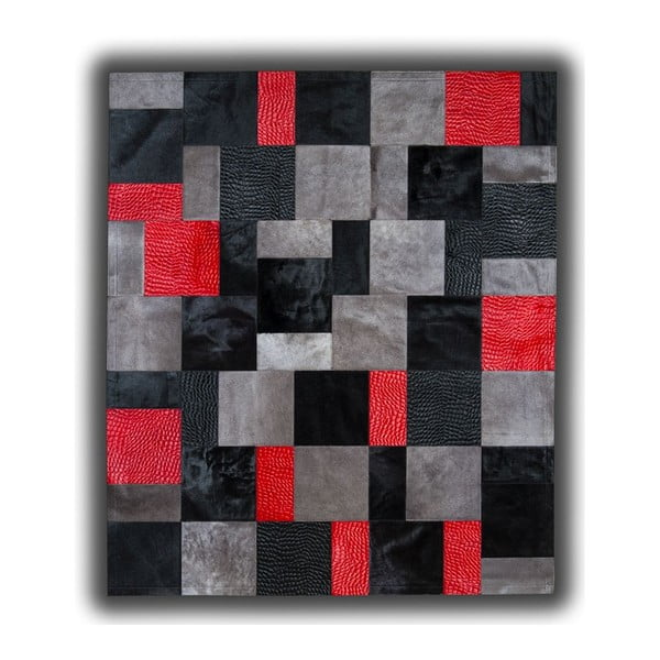 Koberec z pravé kůže Red Rivoli, 150x210 cm