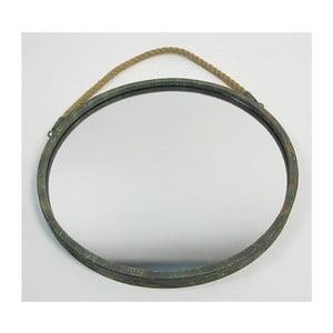 Zrcadlo s provazem Blue Patine, 38x38x2,5 cm