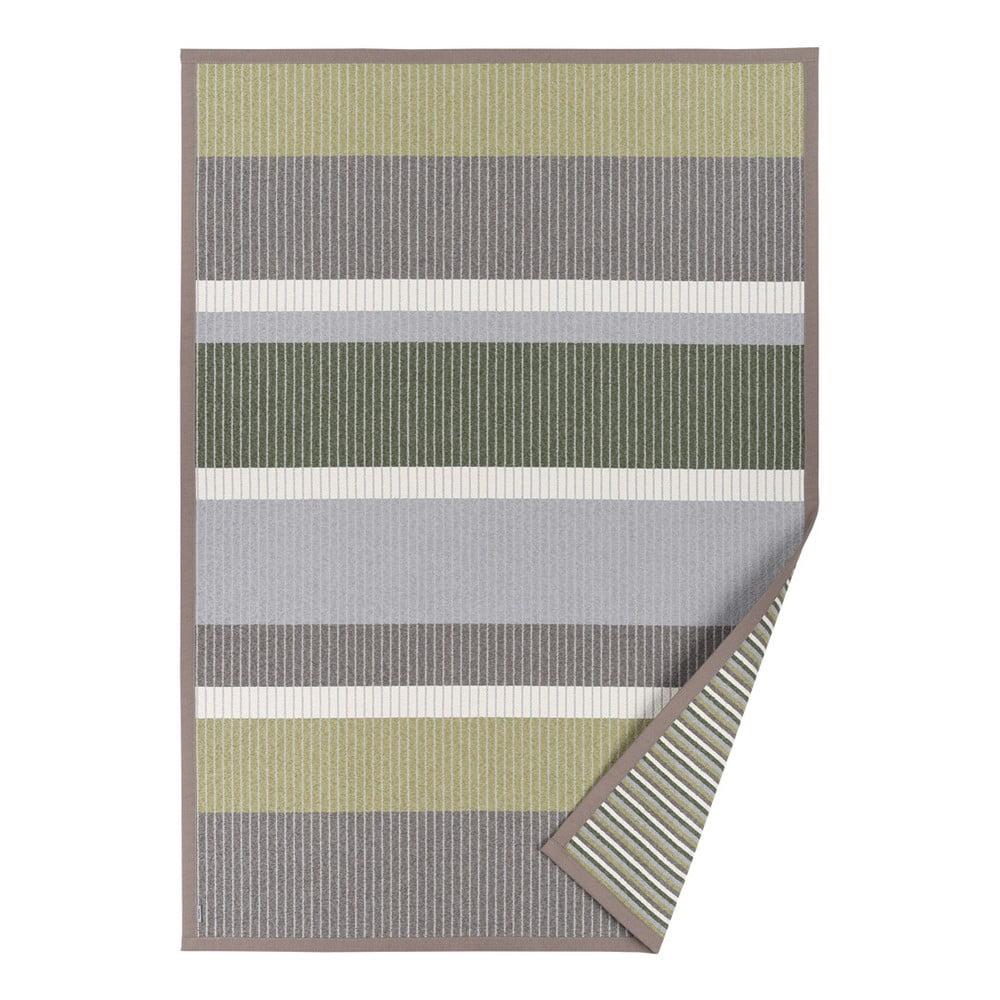 Zelený vzorovaný oboustranný koberec Narma Märdi, 70 x 140 cm