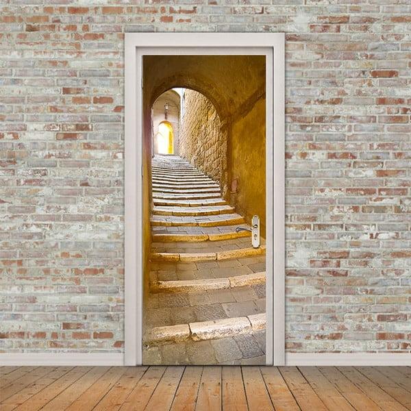 Adhezivní samolepka na dveře Ambiance Stone Steps, 83 x 204 cm