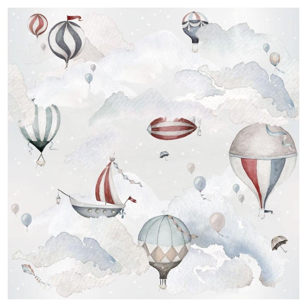 Sada nástěnných samolepek Dekornik Balloons Adventure