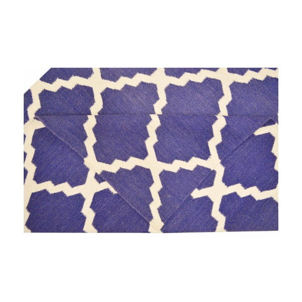 Ručně tkaný koberec Kilim Design Four Blue, 160x230 cm
