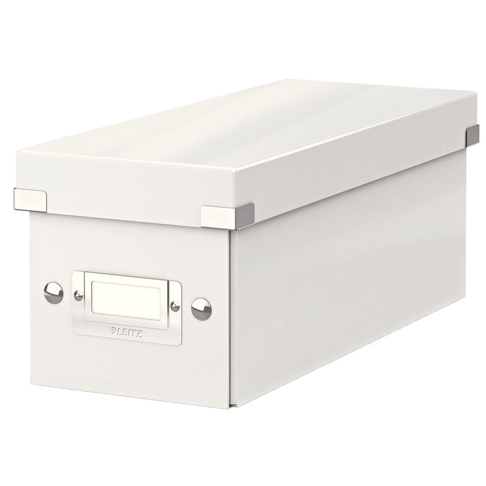Bílá úložná krabice s víkem Leitz CD Disc, délka 35 cm