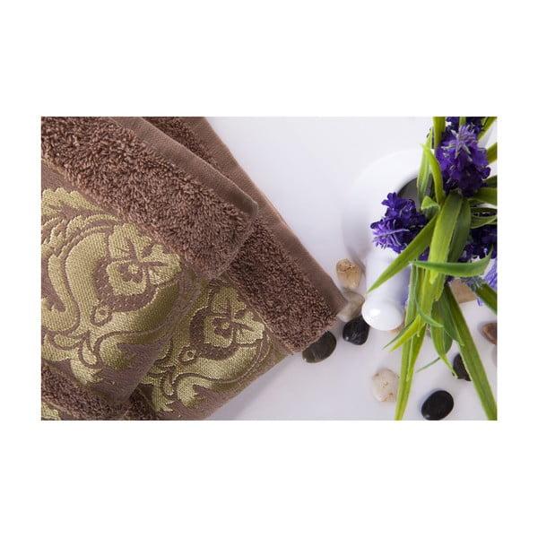 Set dvou ručníků Antik Gold Light Brown, 50x90 cm