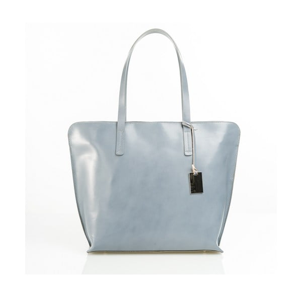 Kožená kabelka Aurel, šedá