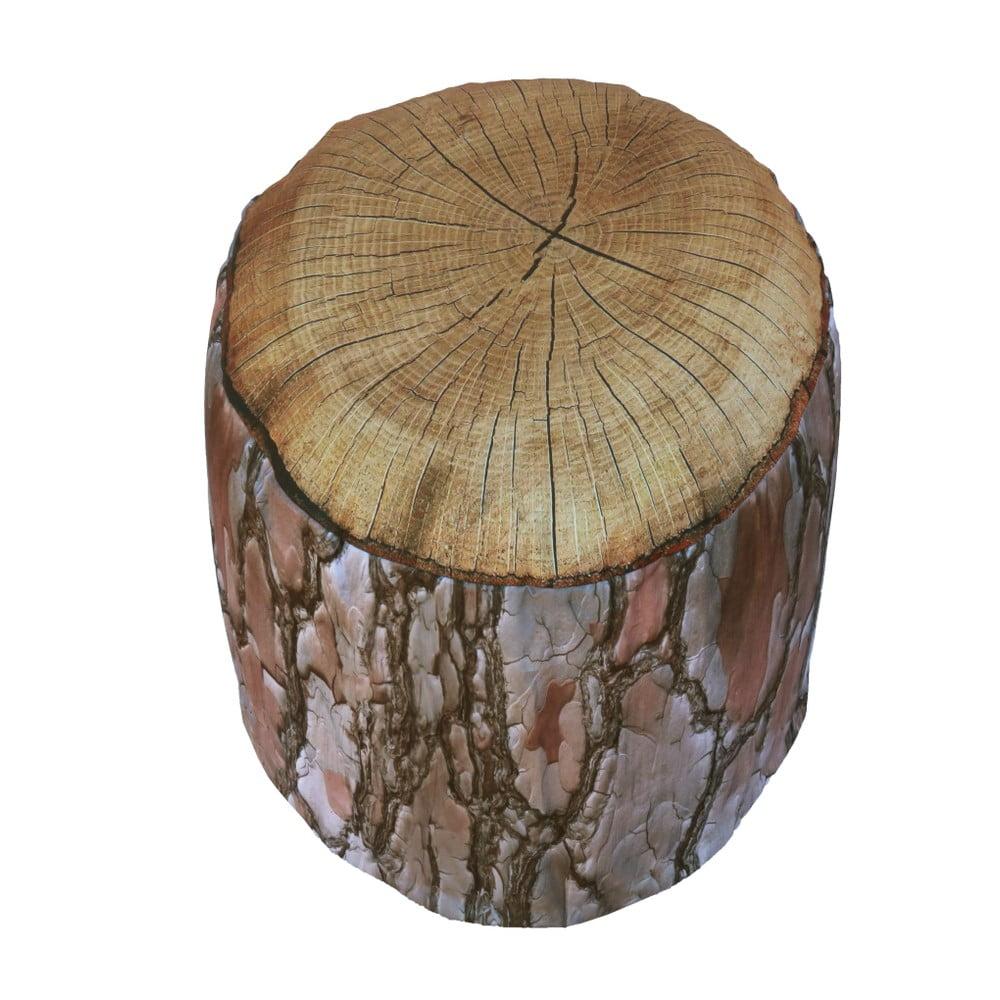 Nafukovací puf ve tvaru špalku dřeva Sunvibes