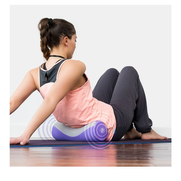 Aparat de masaj InnovaGoods Vibro Yoga Roll BTK, mov