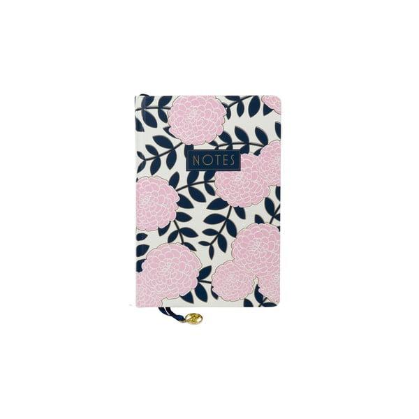 Růžový zápisník Tri-Coastal Design Navy Blush