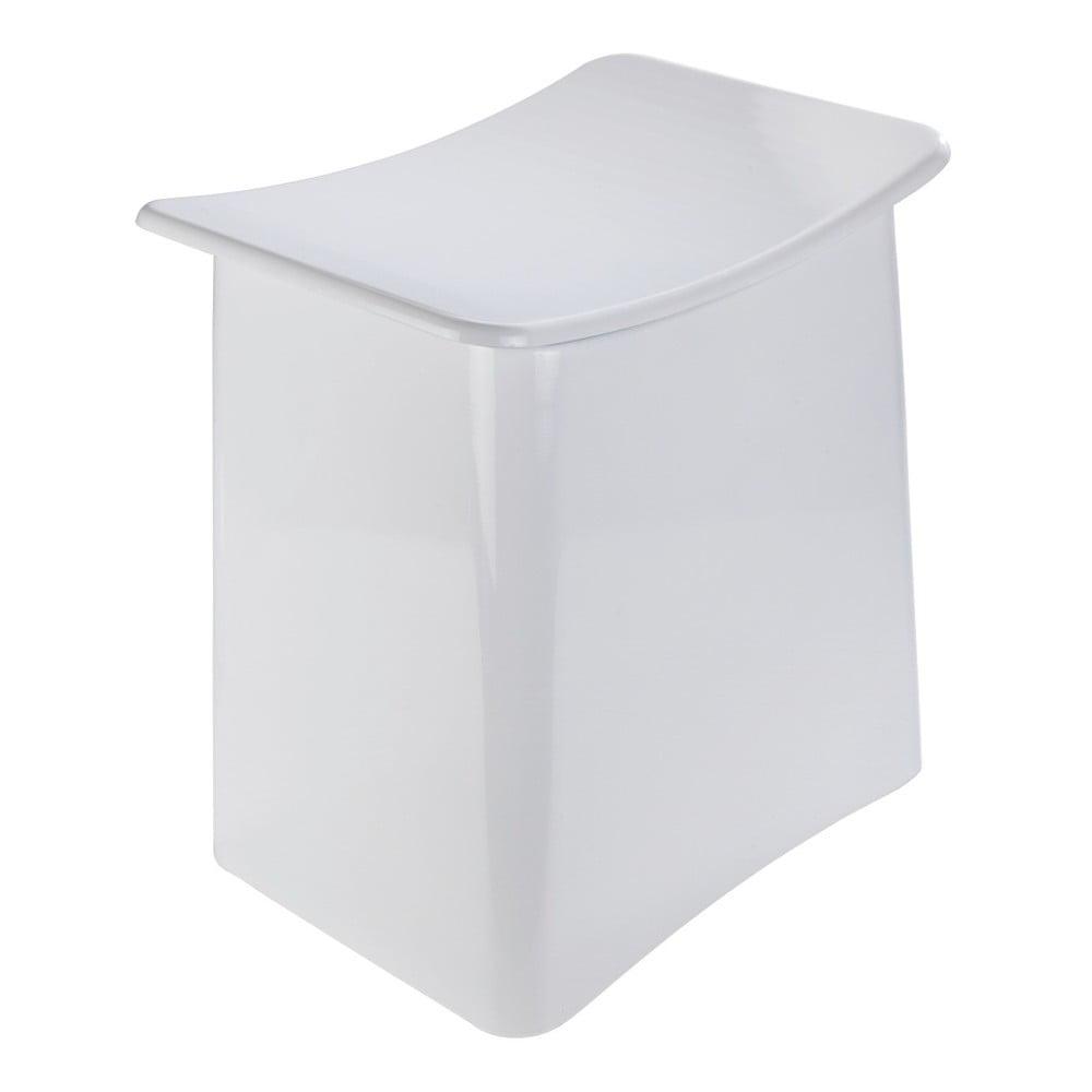 Bílá taburetka s úložným prostorem Wenko Wing, 33 l