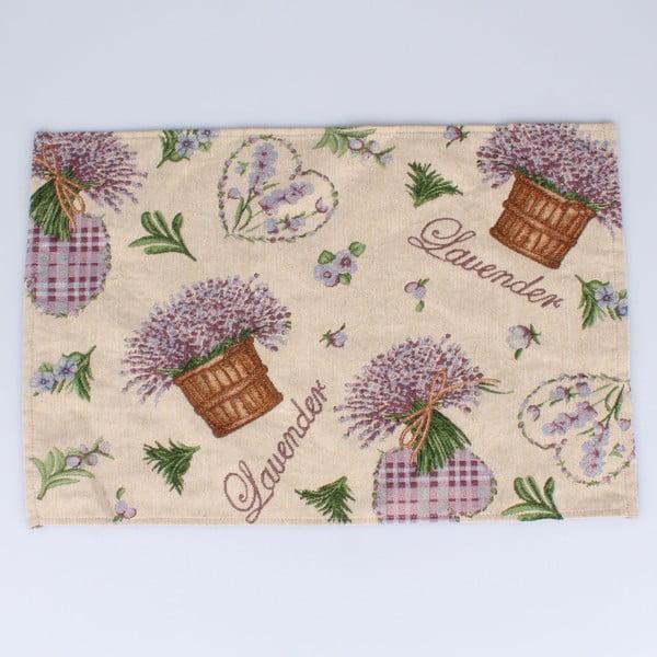 Suport textil pentru farfurie Dakls Easter Deco Levander, 48 x 33 cm