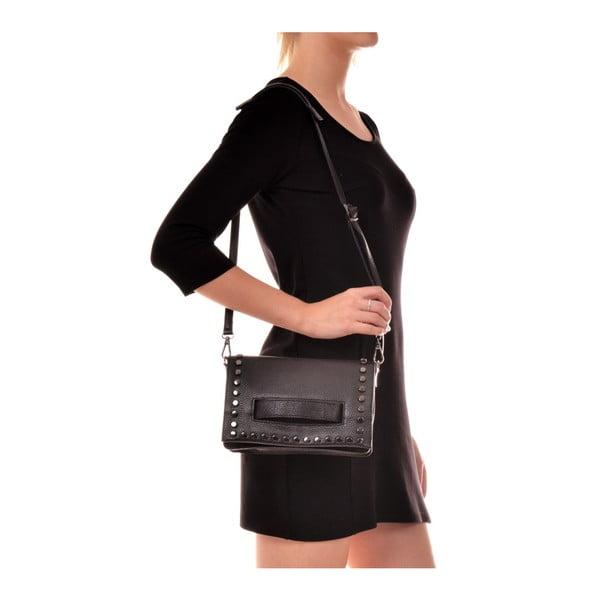 Černá kožená kabelka Anna Luchini Dinero