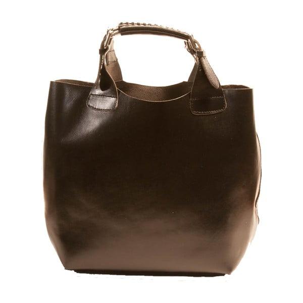 Černá kabelka z pravé kůže Andrea Cardone Edoardo