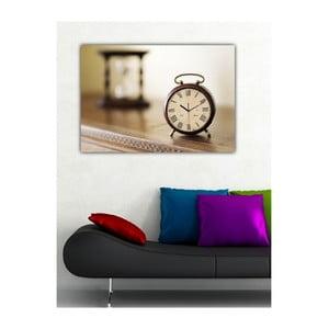 Obraz s hodinami Tikot času, 60x40 cm