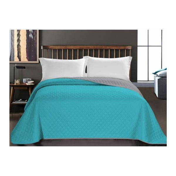 Axel türkiz mikroszálas ágytakaró, 220 x 240 cm - DecoKing
