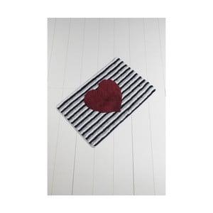 Koupelnová předložka Confetti Bathmats Heart Line, 60 x 100 cm