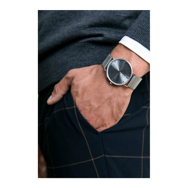 Unisex hodinky s páskem ve stříbrné barvě z nerezové oceli Frederic Graff Maglia