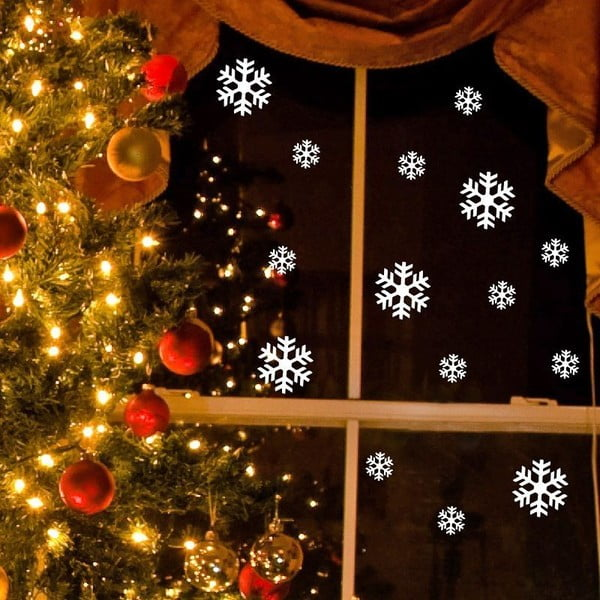 Ambiance Bright White Snow elektrosztatikus karácsonyi matrica - Ambiance