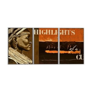3dílný obraz Highlights, 45x90 cm