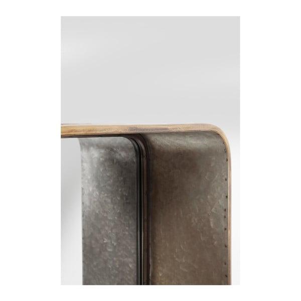 Oglindă de perete cu sertar Kare Design Curve, 120 x 36 cm