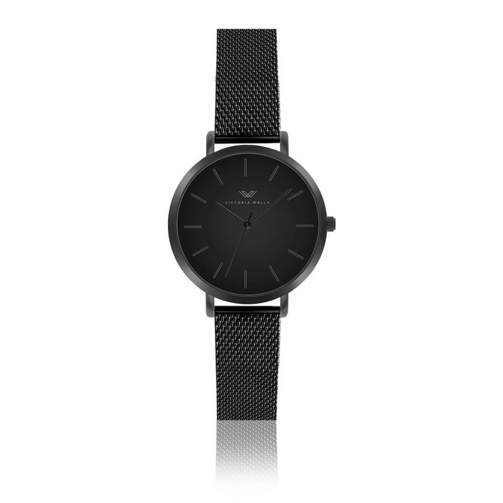 Černé dámské hodinky s řemínkem z chirurgické oceli Victoria Walls Negro 9257457491