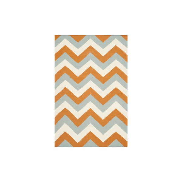 Vlněný koberec Harlow 121x182 cm, oranžový