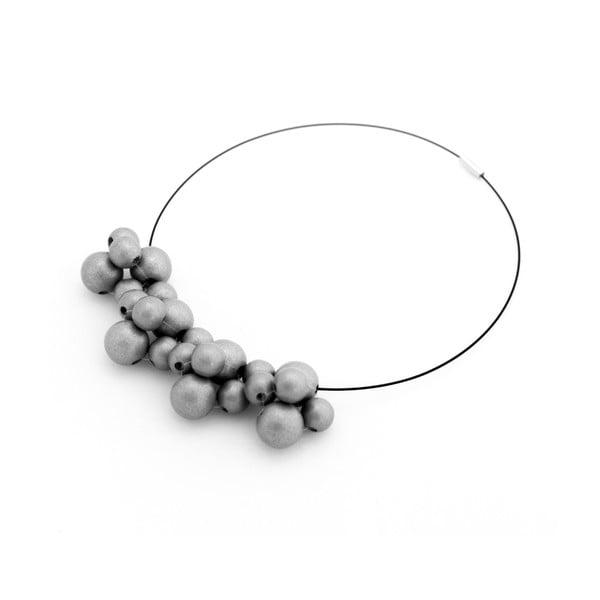 Stříbrný dřevěný náhrdelník Ko–ra–le Bubbles