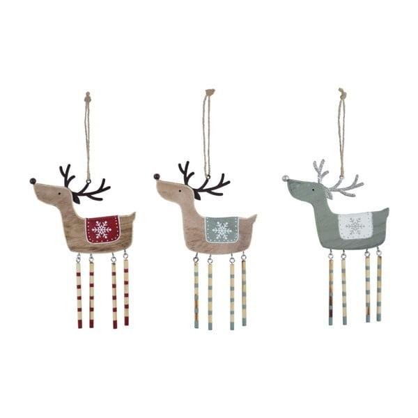 Sada 3 závěsných vánočních dekorací na stromek Ego Dekor Misto Reindeers