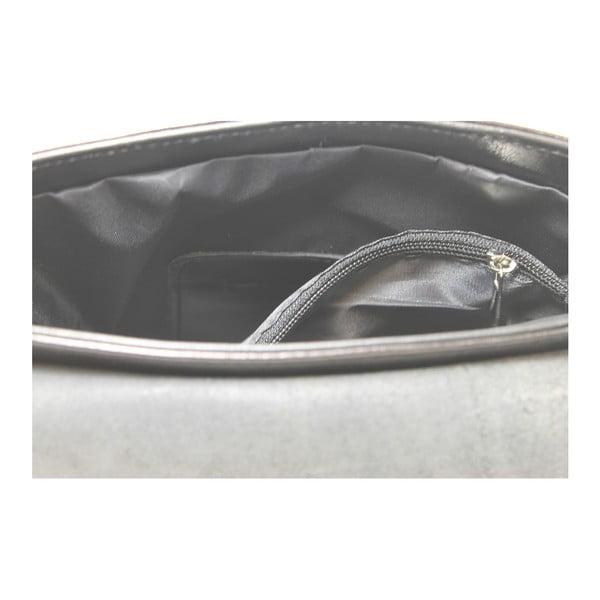 Černá kožená taška Chicca Borse Valeria