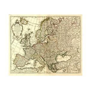 Fotoobraz Mapa Evropy, 60x50 cm