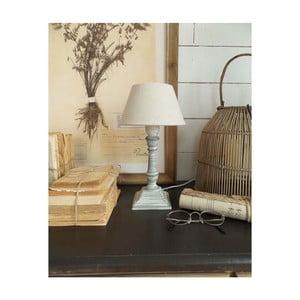 Šedá dřevěná stolní lampa Orchidea Milano, výška30cm