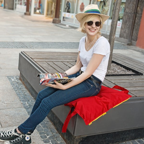 Skládací sedák Hhooboz 50x60 cm, tyrkysový