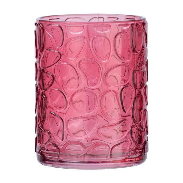 Suport sticlă pentru periuțe de dinți Wenko Vetro Foglia, roz fucsia