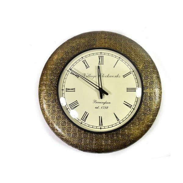 Nástěnné hodiny z tepaného kovu Diu, 47 cm