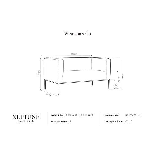 Černá dvojmístná pohovka Windsor & Co Sofas Neptune