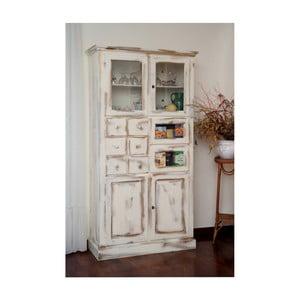 Vitrină din lemn Castagnetti Gothic, alb
