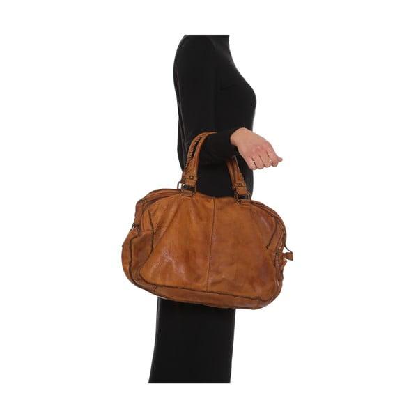 Kožená kabelka Anna Luchini  6 Cognac