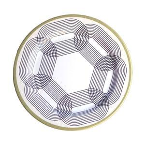 Sada 6 melaminových talířů Sunvibes Maillon Beige, ⌀ 25 cm