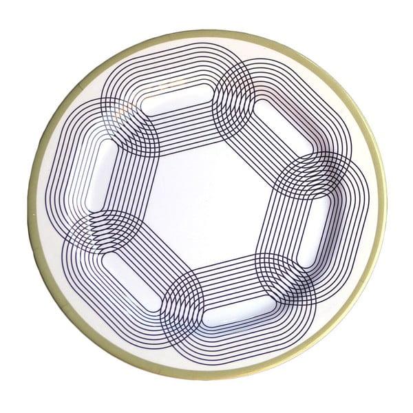 Zestaw 6 talerzy melaminowych Sunvibes Maillon Beige, ⌀ 25 cm