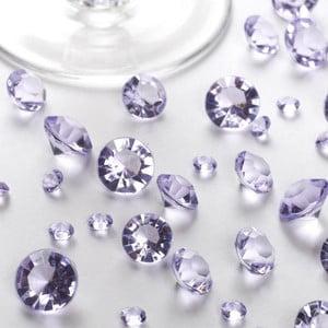 Světle fialové dekorativní krystaly Neviti Party, 100 g
