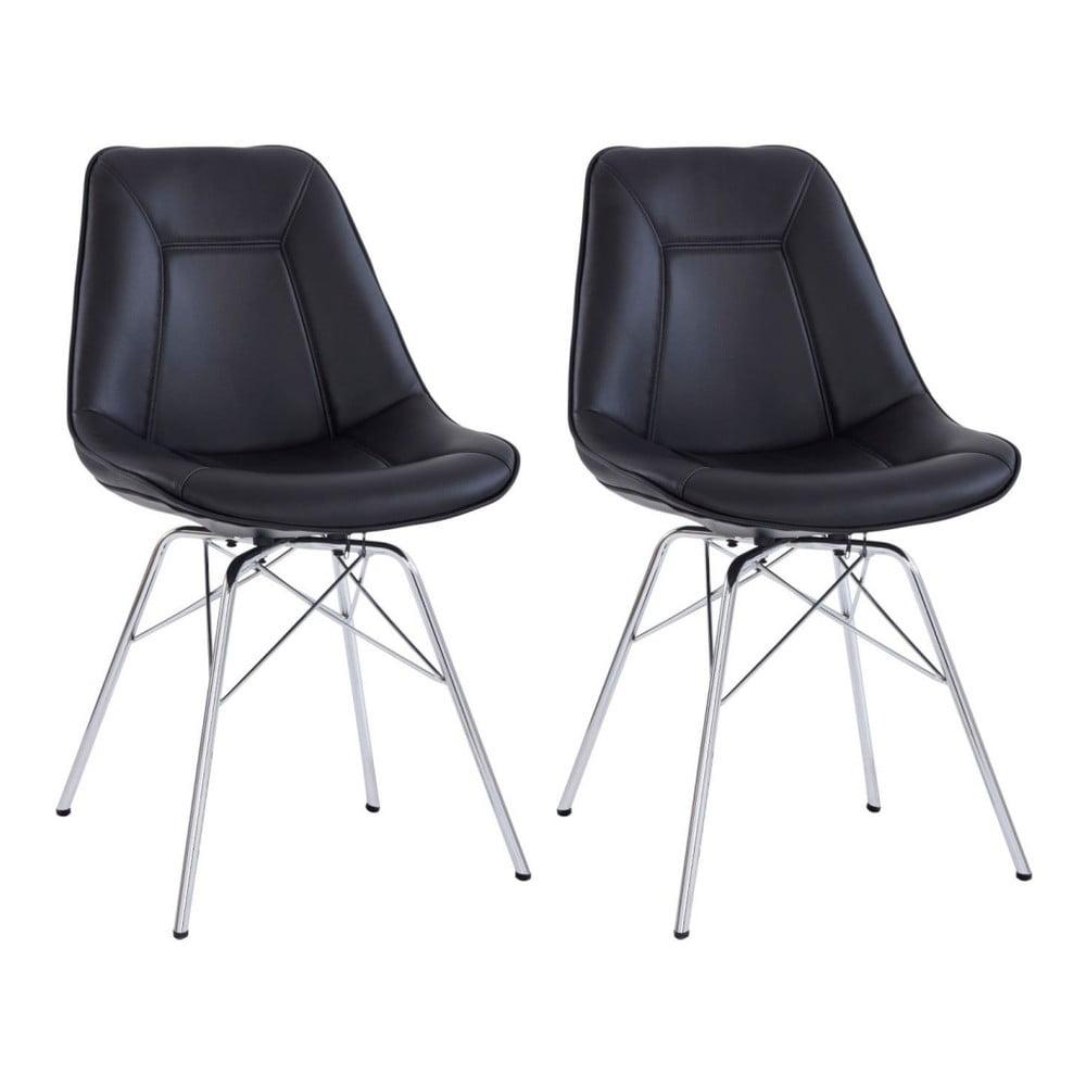 Sada 2 černých židlí Støraa Shirley