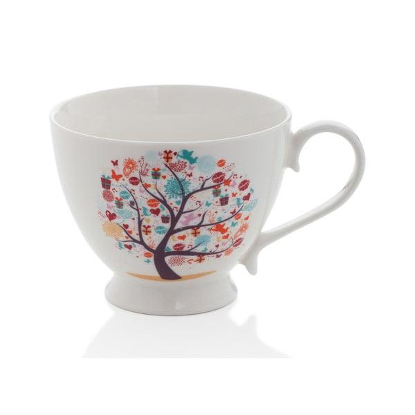 Hrnček z kostného porcelánu Sabichi Tree, 420 ml