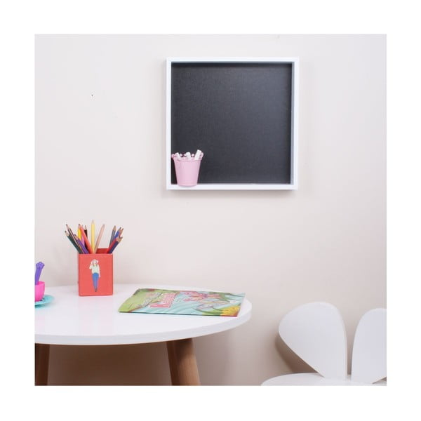 Cube fehér fali polc táblával - North Carolina Scandinavian Home Decors