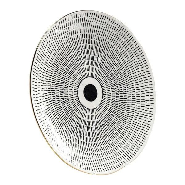 Tavă Kare Design Capetown, ⌀ 26 cm, alb - negru