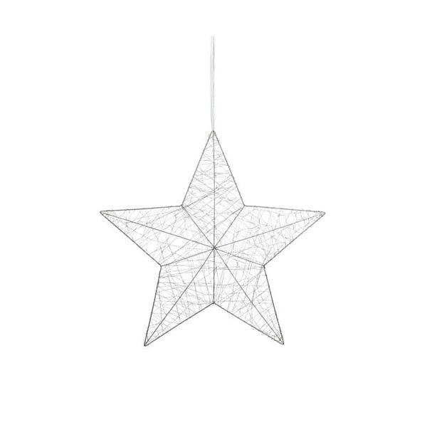 Závěsná LED svítící dekorace Artur, bílá