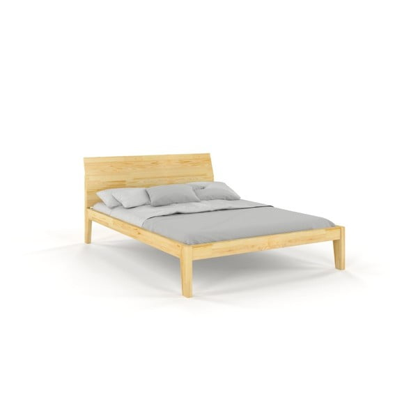 Dvojlôžková posteľ z masívneho borovicového dreva SKANDICA Agava, 140 x 200 cm