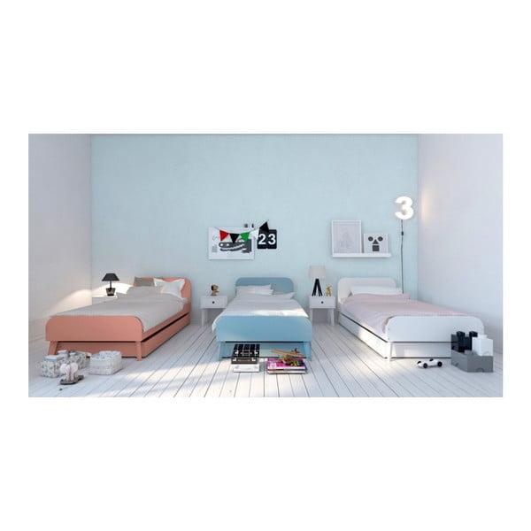 Růžová modrá postel BLN Kids Bloom, 200x90cm