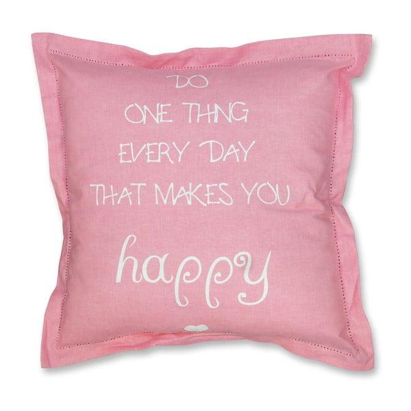 Polštář Happy 45x45 cm, růžový