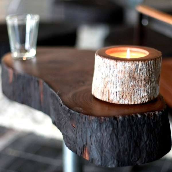 Palmová svíčka Legno s vůní white musk, 40 hodin hoření