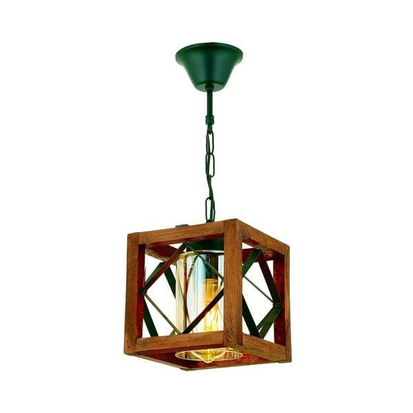 Závěsné svítidlo z habrového dřeva Zikzak Camlı
